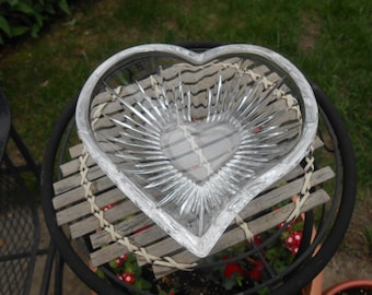 crystal heart candy dish