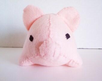 Small Pink Pig Stuffed Animal