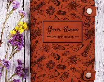 Blank recipe book etsy custom recipe book with your name personalized cookbook notebook recipes recipe notebook forumfinder Gallery