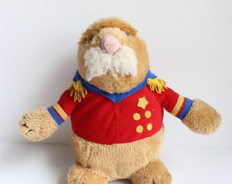 SEA WORLD WALRUS Plush, Walrus Dressed as Admiral, Vintage 1988 Plush, vintage Souvenir, vintage Keepsake,Sea World Souvenir,stuffed sea toy