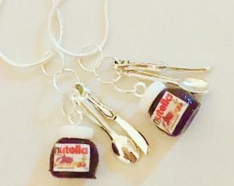 Nutella - Nutella Jar - Nutella necklace - Nutella pendant - Nutella charm - food jewellery - Nutella Polymer Clay