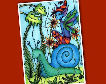 Once Upon My Imagination - poetry / story book - kids pixie monster