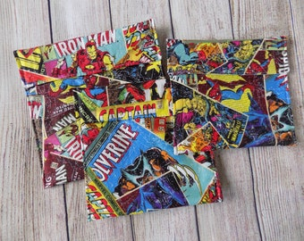 Marvel reusable snack bags