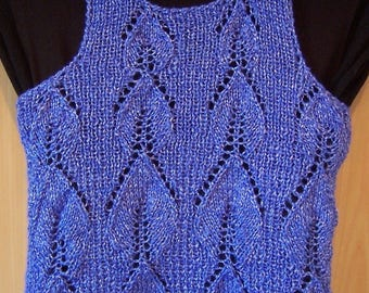 Royal Blue summer top made by hands