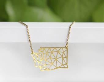 Washington Geometric Necklace | Small | ATL-N-189