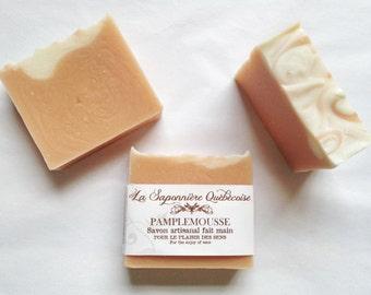 Savon Pamplemousse, Savon artisanal fait main 100% naturel, Grapefruit Soap, Cold process All Natural Handmade Soap