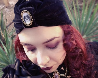 Mourning Jewelry - Love is forever Turban - Victorian Style