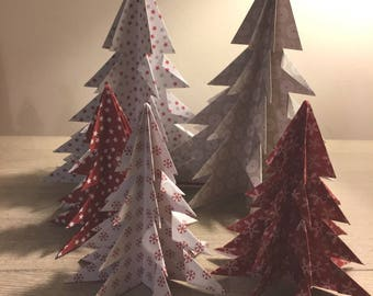Forest trees 5 origami for Christmas