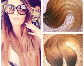 5 Star Ombre Balayage European Remy Tape-in Seamless weft Hair Extensions 40pcs