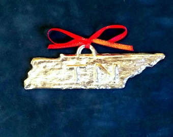 Pewter Tennessee Ornament (TN)