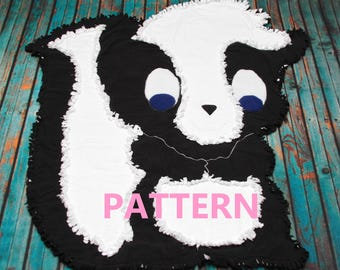 Stinker the Skunk Rag Quilt Pattern