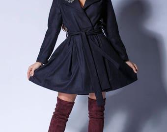 Wool Coat ,Winter Coat ,women coat,long Coat ,Winter Coat Woman ,Wool Jacket , princess dress coat, Coat, Winter Coat, Belted coat,