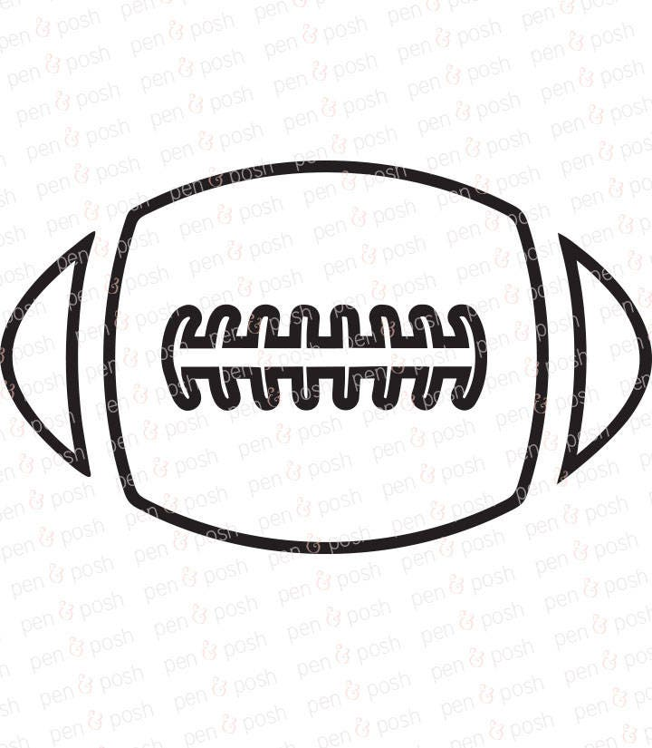 zoom - Football Outline