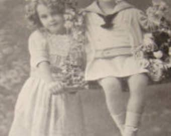 SALE Cute Vintage RPPC (Children)