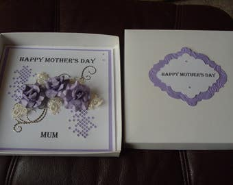Handmade Personalised Birthday OR Mother's Day Card