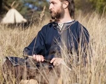 "Cotton Viking Tunic ""Bjorn the Pathfinder""; Men's MedievalTunic; Cotton Tunic; Viking Costume"