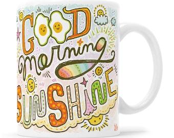 Good Morning Sunshine Retro Adorable Mug Gift for Teen Girl Kawaii Mug Kawaii Mug Sunshine Mug Sunshine Coffee Mug Retro Adorable Mug