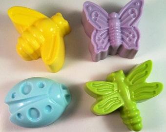 Bug Soap / Think Spring Soap / Easter Soap / 2 oz Soap / Goat Milk Soap / Wedding Favor / Baby Shower Favor