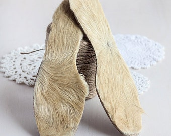 Fur inner soles_thermal warm insoles_big size_unisex pre-cut insoles_durable fluffy_tribal home_country western decor_rustic display item