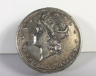 Bentley Lady Liberty tête ancienne pièce de monnaie liquidation réveil fonctionne très bien