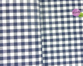 Gingham blue cotton