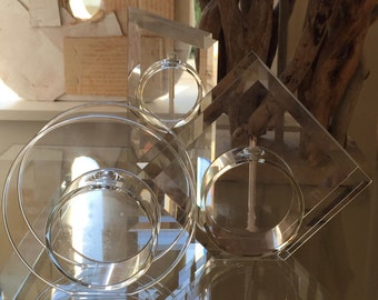 Three Vintage Handblown Oil Candles Objet D'Art Designed and Made by Dave Perkins