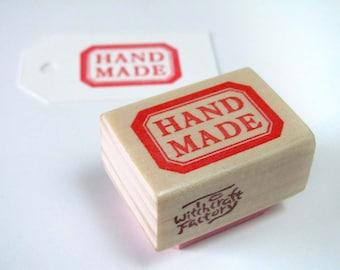 Hand Carved Rubber Stamp, Handmade Label