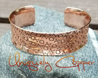 Copper Bracelet, Copper Cuff Bracelet, Copper Bracelets, Hand Stamped, Copper Cuff, 7th Anniversary Gift, Mother's Day Gift, Gift For Wife