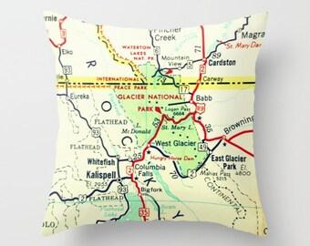 National Parks Map Pillow Cover Vintage Camper Decor Camper Remodel RV Pillows Travel Trailer Travel Gift vintage maps National Parks Gift