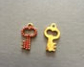Red and gold key