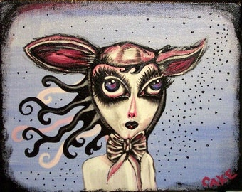 Hurricane Relief~Mary was a little lamb~ acrylic painting on canvas~Original signed