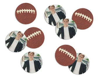 Football Party, Photo Confetti, Party Confetti, Graduation Party Decor, Table Confetti, Party Supply, Party Decor