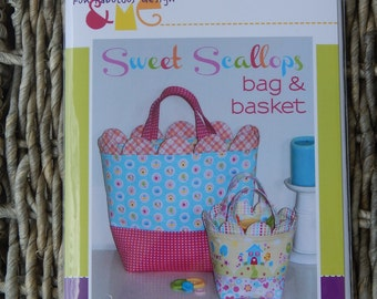 SALE, Pattern,  Melly and Me Sweet Scallops Bag & Basket Pattern