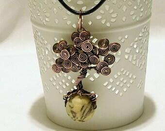 Copper pendant, Tree of life pendant, Copper tree of life, Copper jewelry handmade, Jewelry handmade, Wire wrapped jewelry, Copper jewelry