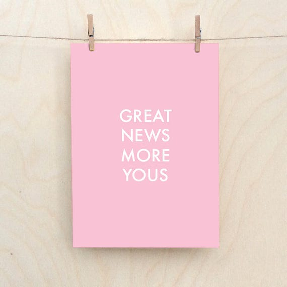 Great News More Yous, Funny Baby Card, Funny girl card,