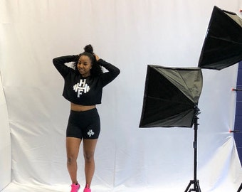 Cropped Crew Neck Sweater - HowHard Fitness