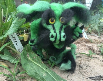 ooak needle felted  Envous de dragon layaway available