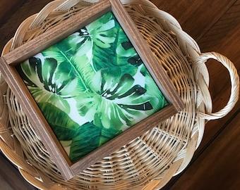 Monstera Jungle Leaf Wood Sign