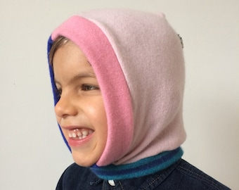 DIZZY 2-4 Years Cashmere Kids Childrens Balaclava Bobble Hat Snood Hoodie Knitted Unisex