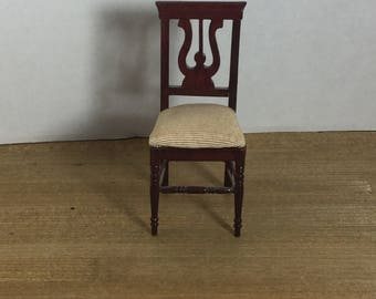 Dollhouse furniture Victorian harp back side chair