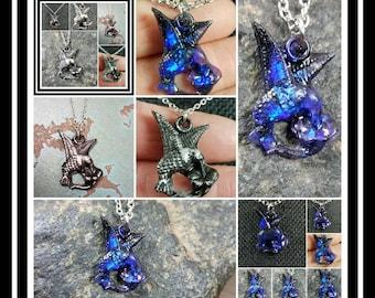 Memorial Ash Hummingbird Necklace/Cremation Pendant/ Pet Memorial Jewelry/ Memorial Jewelry/60 Color Options