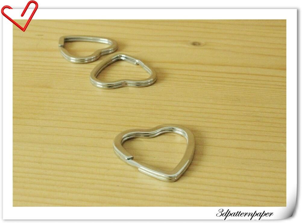 3.2 cm heart key ring Key Holder Purse Rings 10 Pcs per bag E80