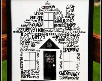 "Family House, Typography, digital print, 11""x14"""
