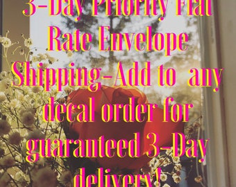 Priority Flat Rate Envelope Shipping (for Decals and Prints ONLY)
