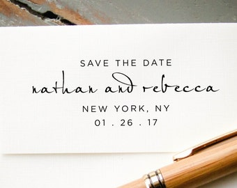 Self Inking Stamp, Custom Rubber Stamp, Personalized Stamp, Custom Stamp, Custom Save the Date Stamp, Bridal Shower Gift, Calligraphy