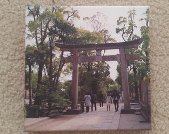 Canvas print of Torii Gate in Kamakura, Japan.