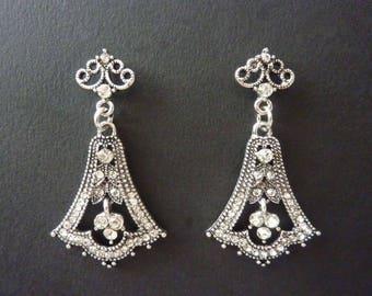 Vintage Earrings Art Deco Earrings Great Gatsby Earrings Art Nouveau Earrings Wedding Earrings Drop Bridal Earrings Downton Downtown Abbey