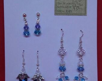 True Blue Earring quartett