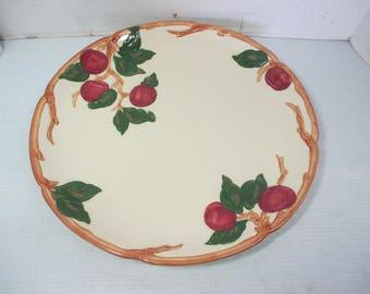 "Vintage 1948-1949 FRANCISCAN  WARE Red Apple Pattern Large 14"" Diameter Round Platter"