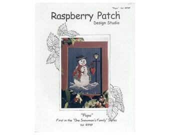 Snowman Cross Stitch Leaflet, Raspberry Patch Snowman Cross Stitch, Winter Cross Stitch Pattern, Snowman Pattern, by NewYorkTreasures Etsy
